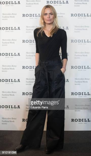 Model Veronica Blume attends the 'Rodilla photocall' during MercedesBenz Fashion Week Madrid Autumn/ Winter 201819 at IFEMA