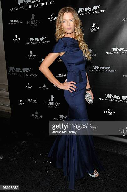 Model Veronica Varekova attends the Hublot and African Wildlife Foundation Auction Dinner at American Museum of Natural History African Mammals Room...
