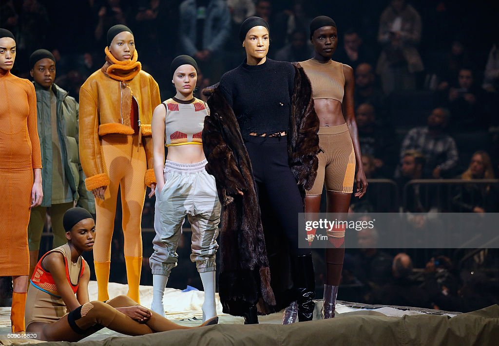 Model Veronica Webb appears onstage during Kanye West Yeezy Season 3 on February 11, 2016 in New York City.