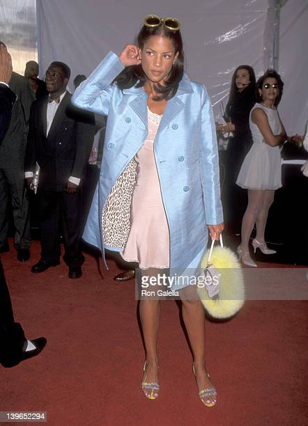 Model Veronica Webb attends the 10th Annual Soul Train Music Awards on March 29 1996 at Shrine Auditorium in Los Angeles California