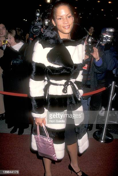 Model Veronica Webb attends the 40th Annual Grammy Awards After Party Hosted by Sony Records on February 26 1998 at Manhattan Center in New York City...
