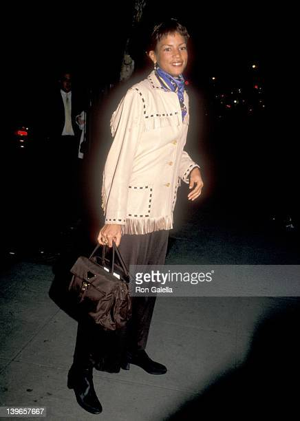 Model Veronica Webb attends the Fall 1994 Fashion Week Donna Karan Fashion Show on April 6 1994 at Bryant Park in New York City New York