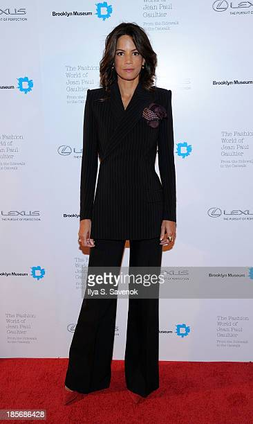 Model Veronica Webb attends the VIP reception and viewing for The Fashion World of Jean Paul Gaultier From the Sidewalk to the Catwalk at the...