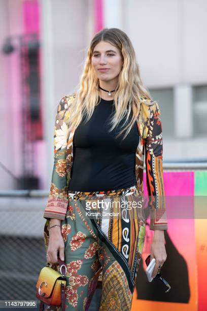 Model Veronika Heilbrunner wears Chloé on February 28, 2019 in Paris, France.