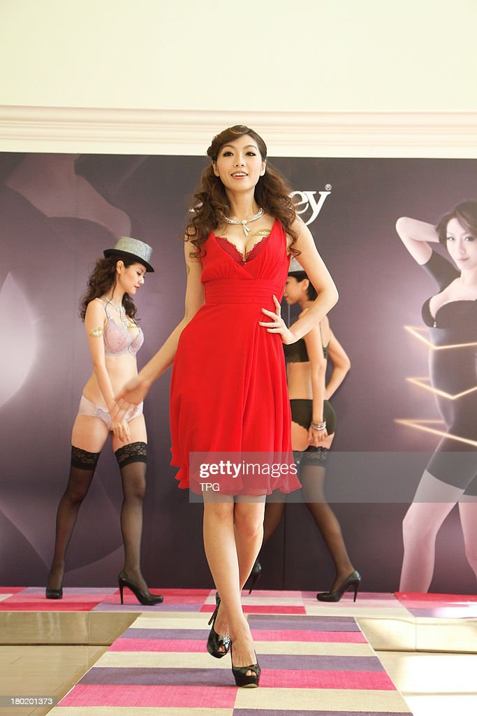 Model Vickey attends commercial activity on Monday September 9,2013 in Taipei,China.