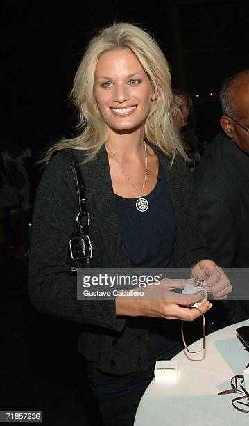Model Vicky Andren poses at jewel maker Stephen Dweck's 25th Anniversary Celebration at Sky Studios on September 11 2006 in New York City