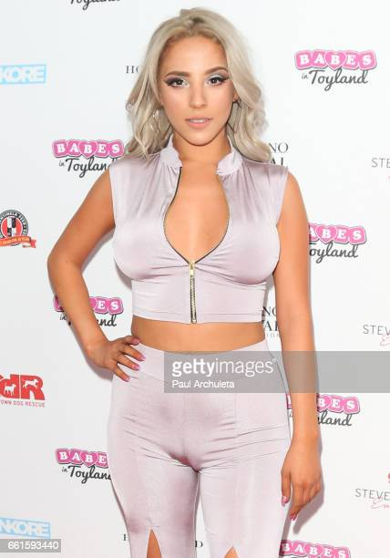Model Victoria Moore attends the 3rd annual Babes In Toyland pet edition at Boulevard3 on March 30 2017 in Hollywood California