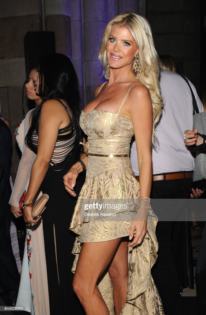 Model Victoria Silvstedt attends 2017 ARD Foundation 'A Brazilian Night' at Cipriani 42nd Street on September 7, 2017 in New York City.