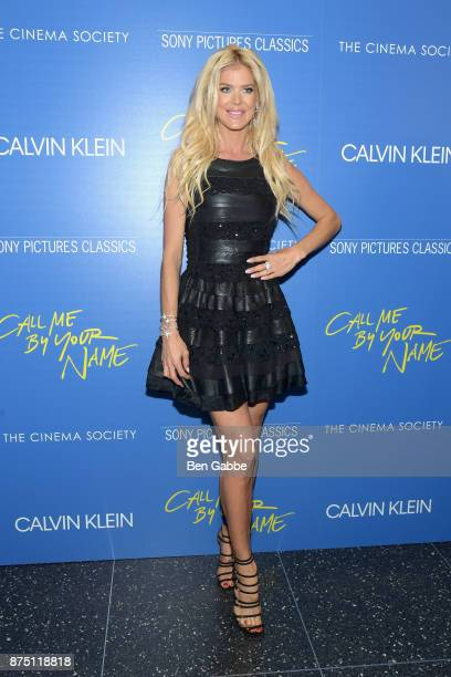 Model Victoria Silvstedt attends The Cinema Society screening of Sony Pictures Classics' 'Call Me By Your Name' at Museum of Modern Art on November...