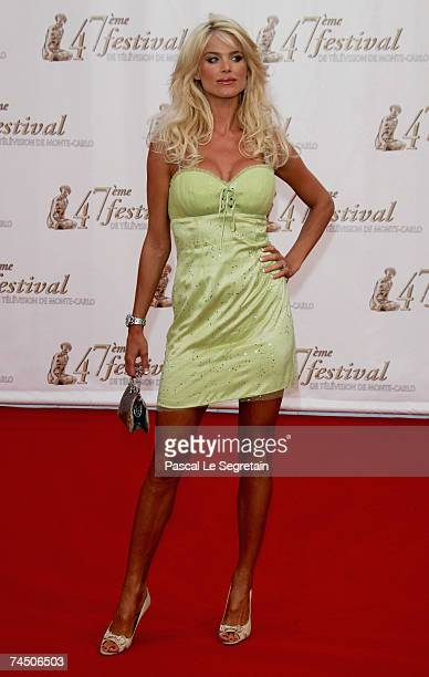 Model Victoria Silvstedt attends the opening night of the 2007 Monte Carlo Television Festival held at Grimaldi Forum on June 10 2007 in Monaco