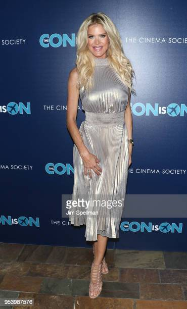 Model Victoria Silvstedt attends the screening of The Con Is On hosted by The Cinema Society at The Roxy Cinema on May 2 2018 in New York City