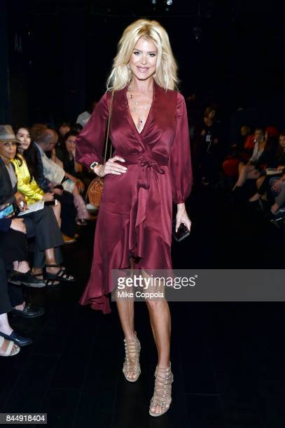 Model Victoria Silvstedt attends the Taoray Wang Front Row during New York Fashion Week The Shows at Gallery 1 Skylight Clarkson Sq on September 9...