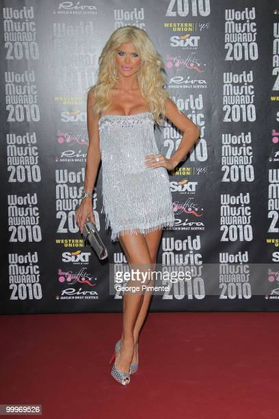 Model Victoria Silvstedt attends the World Music Awards 2010 at the Sporting Club on May 18, 2010 in Monte Carlo, Monaco.