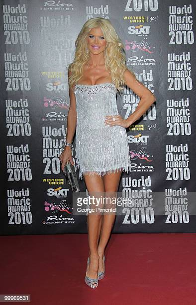 Model Victoria Silvstedt attends the World Music Awards 2010 at the Sporting Club on May 18 2010 in Monte Carlo Monaco