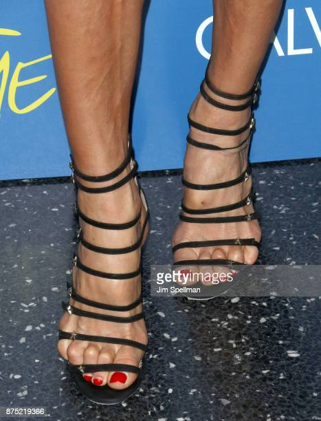 Model Victoria Silvstedt shoe detail attends the screening of Sony Pictures Classics' 'Call Me By Your Name' hosted by Calvin Klein and The Cinema...