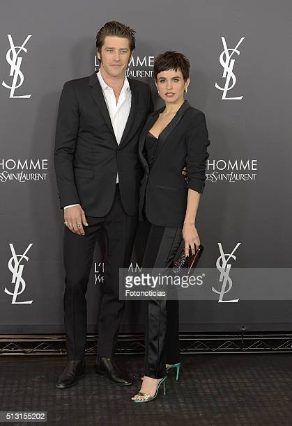 Model Vinnie Woolston and actress Veronica Echegui attend the Yves Saint Laurent Beauty cocktail party at the Espacio Molteni Co on February 29 2016...