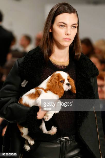 Model Vittoria Ceretti at the Tod's show during Milan Fashion Week Fall/Winter 2018/19 on February 23, 2018 in Milan, Italy.
