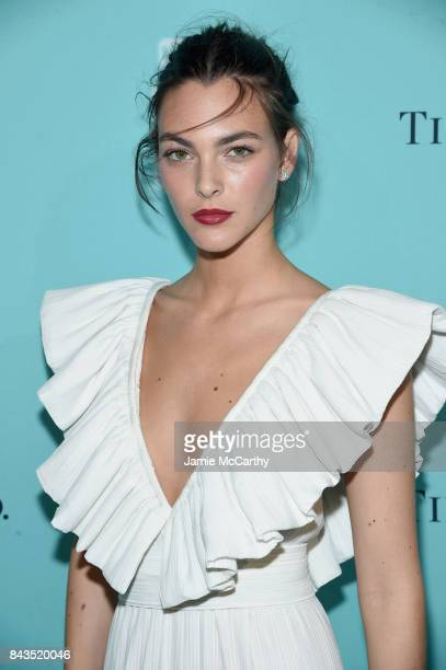 Model Vittoria Ceretti attends the Tiffany Co Fragrance launch event on September 6 2017 in New York City