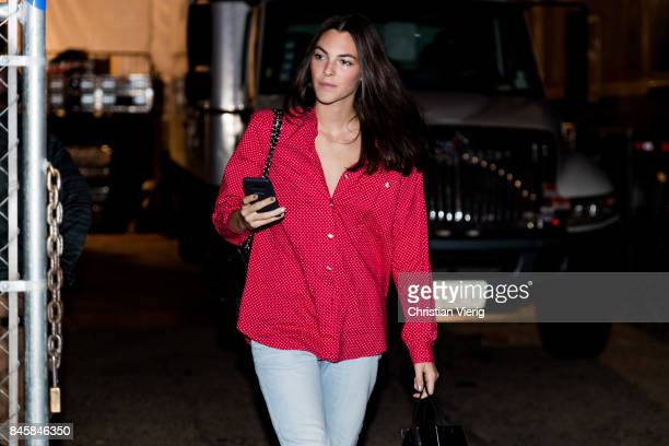 Model Vittoria Ceretti seen in the streets of Manhattan outside Anna Sui during New York Fashion Week on September 11 2017 in New York City