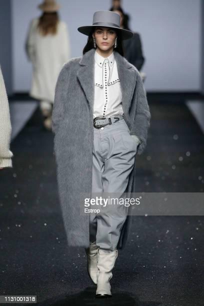 Model Vittoria Ceretti walks the runway at the Alberta Ferretti show at Milan Fashion Week Autumn/Winter 2019/20 on February 20 2019 in Milan Italy