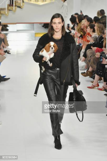 Model Vittoria Ceretti walks the runway at the Tod's show during Milan Fashion Week Fall/Winter 2018/19 on February 23 2018 in Milan Italy