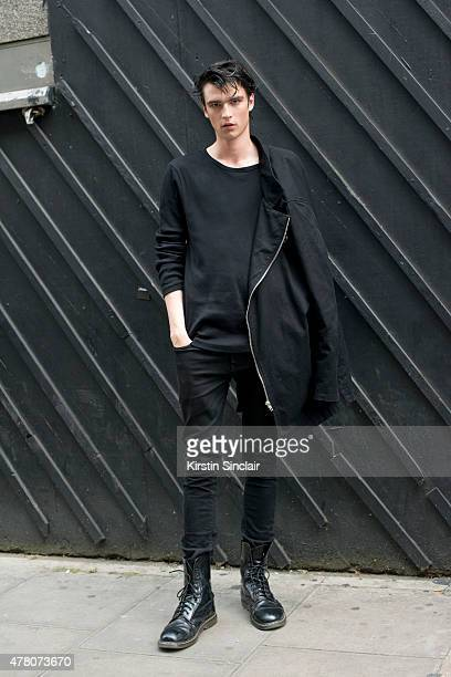 Model Vlad B on day 1 of London Collections: Men on June 12, 2015 in London, England.