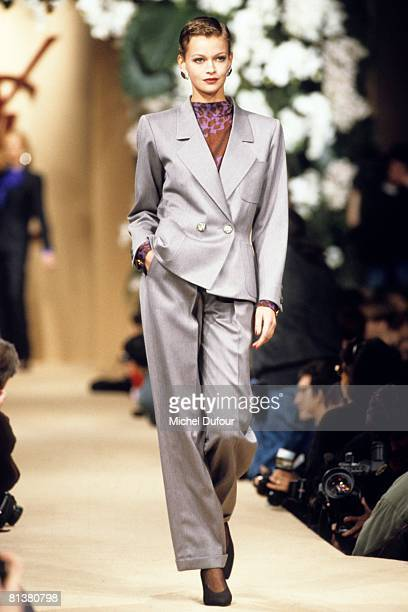 Model walk on the catwalk at YSL High Fashion Show Spring/Summer 1994 during the fashion week 1994 in Paris France