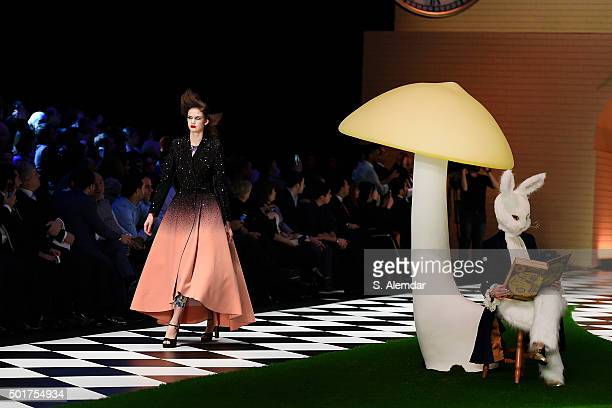 Model walk the runway at Dosso Dossi fashion show on December 17, 2015 in Antalya, Turkey.