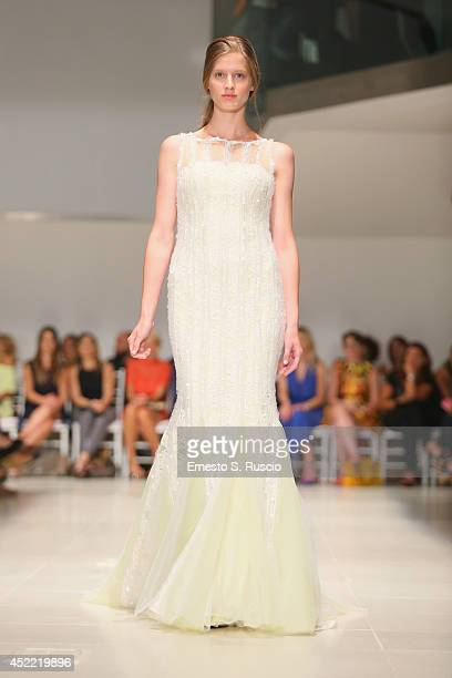 Model walk the runway during Peter Langer Couture F/W 20142015 Haute Couture colletion fashion show as part of AltaRoma AltaModa Fashion Week at Rome...