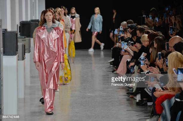 Model walk the runway during the Aalto show as part of the Paris Fashion Week Womenswear Spring/Summer 2018 on September 27 2017 in Paris France