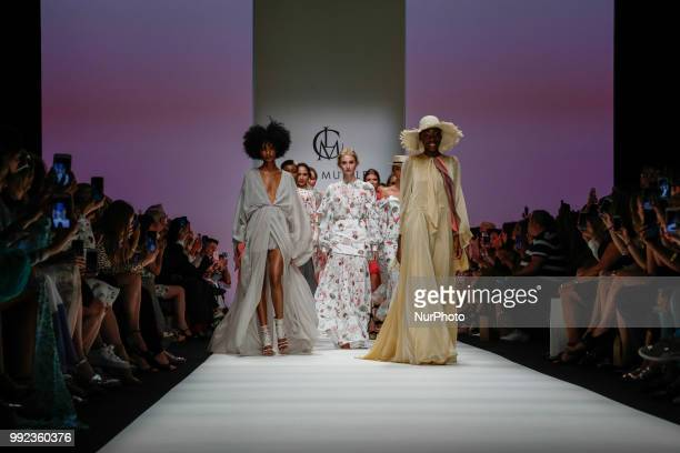 Model walk the runway during the Lana Mueller Spring/Summer 2019 collection show during the third day of MBFW Berlin Fashion Weak in the ewerk...