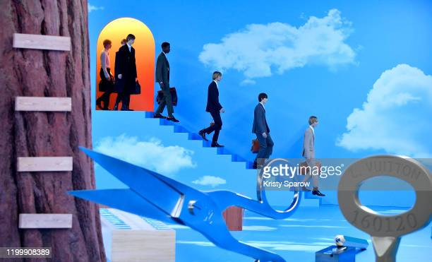 Model walk the runway during the Louis Vuitton Menswear Fall/Winter 2020-2021 show as part of Paris Fashion Week on January 16, 2020 in Paris, France.