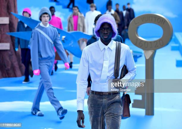 Model walk the runway during the Louis Vuitton Menswear Fall/Winter 20202021 show as part of Paris Fashion Week on January 16 2020 in Paris France