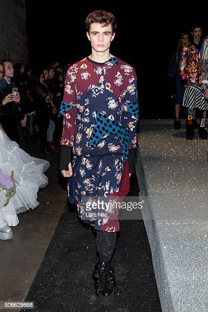 """Model walking at the """"Nicopanda Fashion Collection Presentation"""" during NYFW A/W 2016 at 541 West 22nd Street in New York City. �� LAN"""