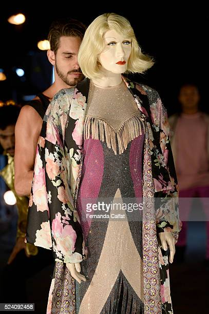 A model walks at FH by Fause Haten Performance at SPFW Summer 2017 on April 24 2016 in Sao Paulo Brazil