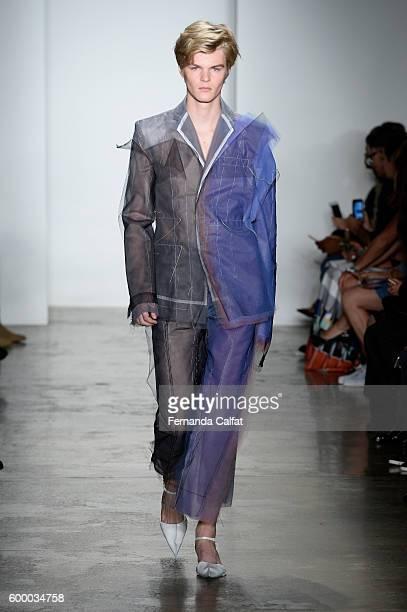 A model walks at Parsons MFA Runway September 2016 at MADE Fashion Weekat Milk Studios on September 7 2016 in New York City