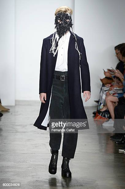 A model walks at Parsons MFA Runway September 2016 at MADE Fashion Weekat Milk Studios on September 7 2016 in New York City