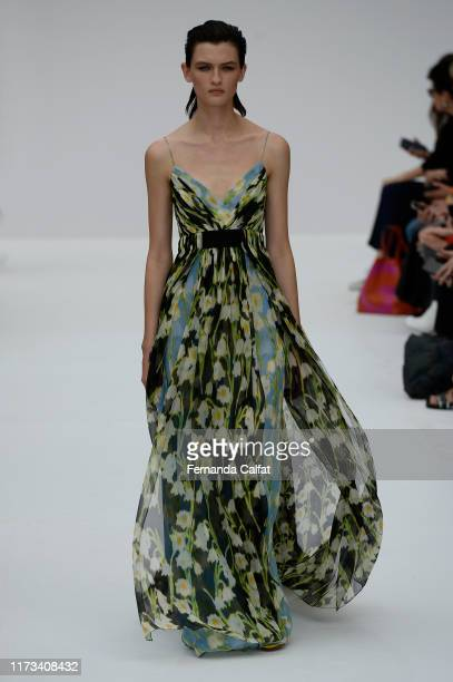 Model walks at the Carolina Herrera Runway during New York Fashion Week at Garden of the Battery on September 9, 2019 in New York City.