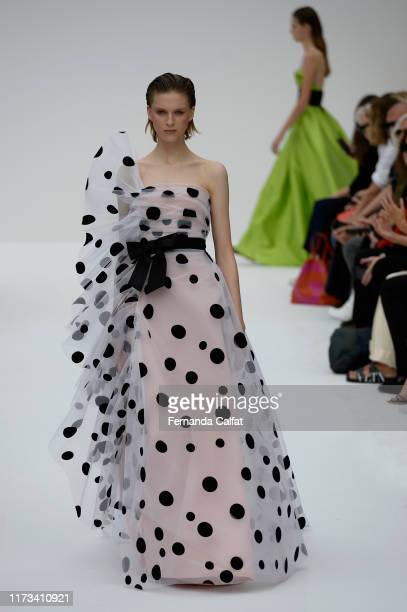 A model walks at the Carolina Herrera Runway during New York Fashion Week at Garden of the Battery on September 9 2019 in New York City