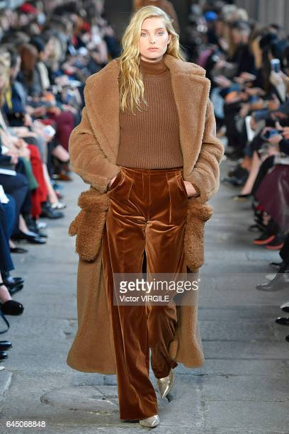 A model walks at the Max Mara Ready to Wear Fashion show during Milan Fashion Week Fall/Winter 2017/18 on February 23 2017 in Milan Italy