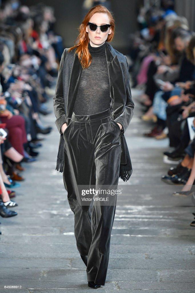 276fb2f6fb A model walks at the Max Mara Ready to Wear Fashion show during ...