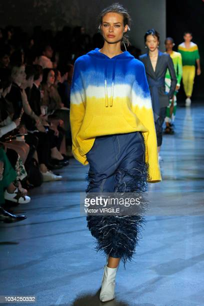 A model walks at the Prabal Gurung Spring/Summer 2019 fashion show during New York Fashion Week on September 9 2018 in New York City