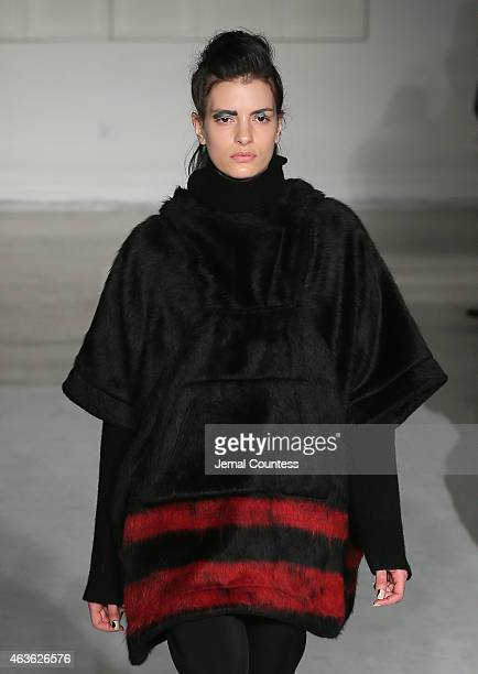 A model walks at the Zero Maria Cornejoat fashion show during MercedesBenz Fashion Week Fall 2015 at Location05 on February 16 2015 in New York City