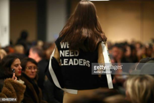 A model walks clothing detail the runway Public School collection during New York Fashion Week The Shows at Milk Gallery on February 12 2017 in New...