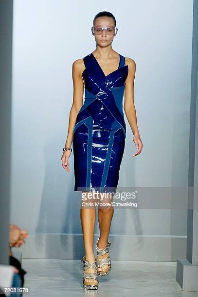 Model walks down the catwalk during the Balenciaga Fashion Show as part of Paris Fashion Week Spring/Summer 2007 on October 3, 2006 in Paris, France.