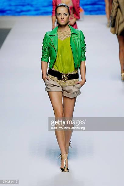 Model walks down the catwalk during the Blumarine show as part of Milan Fashion Week Spring Summer 2008 on September 24, 2007 in Milan, Italy.