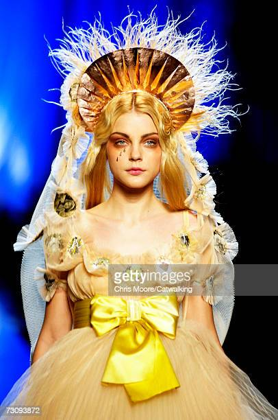 A model walks down the catwalk during the JeanPaul Gaultier fashion show as part of Spring / Summer 2007 Haute Couture on January 24 2007 in Paris...