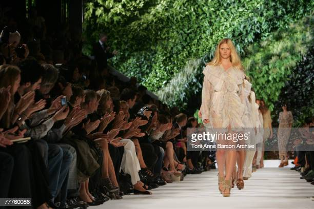 A model walks down the catwalk during the Stella McCartney fashion show during the Spring/Summer 2008 Paris Fashion Week on October 4th 2007 in Paris