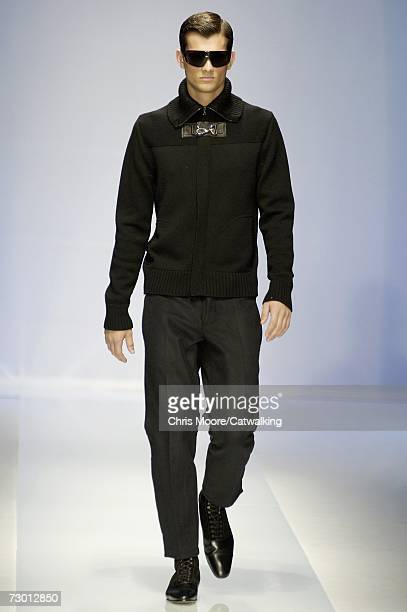 Model walks down the catwalk during the Valentino fashion show as part of Milan Fashion Week Autumn/Winter 2007 on January 16, 2007 in Milan, Italy.