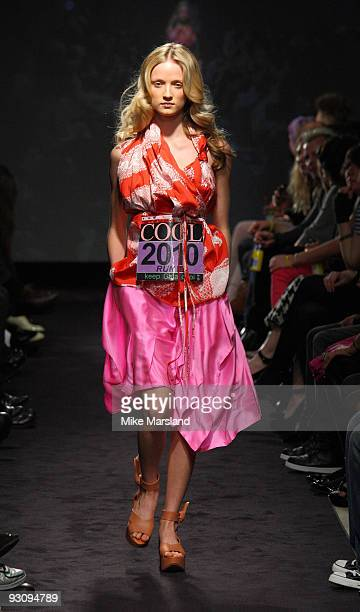 Model walks down the runway at the Anglomania show by Vivienne Westwood at Selfridges on November 16 2009 in London England